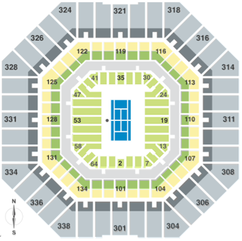 Us Open 2019 Tennis Flushing Meadows Ny Championship Tennis Tours - Us-open-tennis-location-map